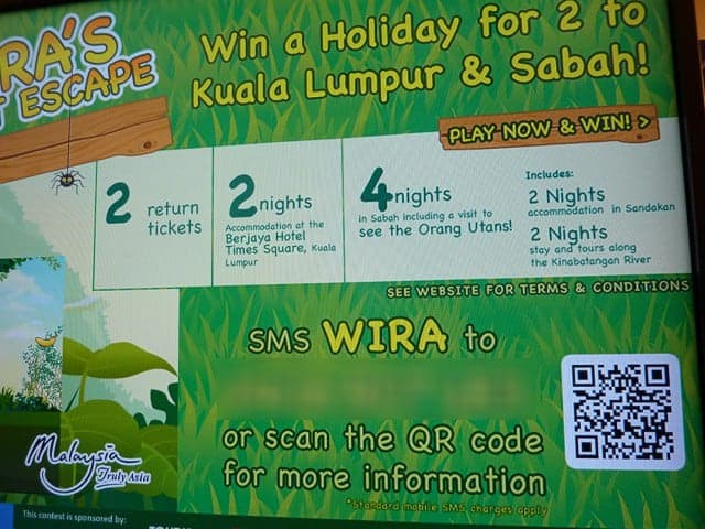 Tourism Malaysia Backpacker Expo 2012 digital signage QR Code