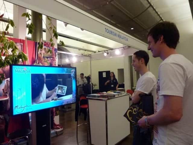 Tourism Malaysia Backpacker Expo 2012 digital signage results