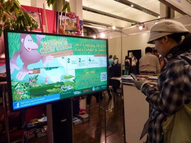 Tourism Malaysia Backpacker Expo 2012 digital signage results1