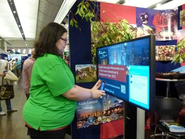 Tourism Malaysia Backpacker Expo 2012 digital signage results2