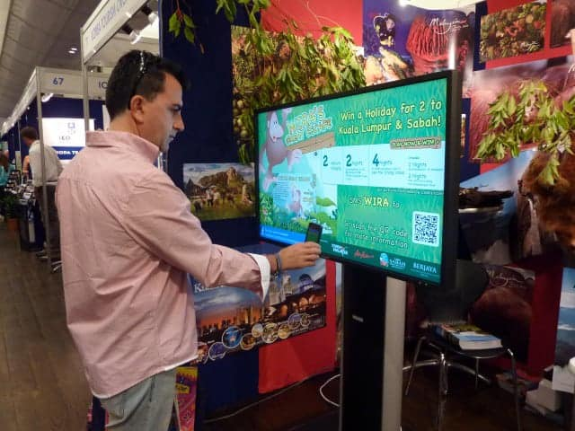 Tourism Malaysia Backpacker Expo 2012 digital signage results3