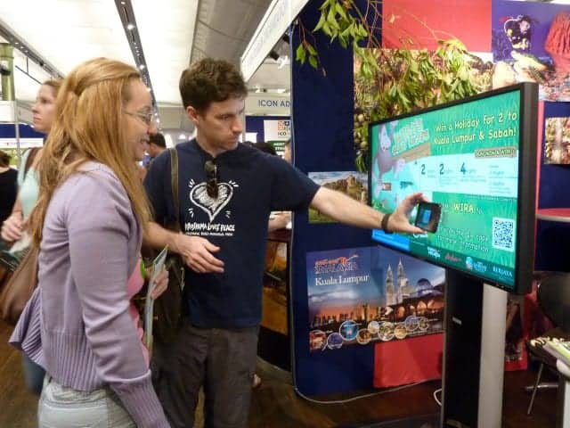 Tourism Malaysia Backpacker Expo 2012 digital signage results4