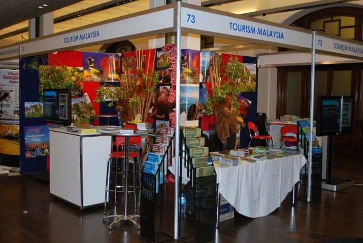 Tourism Malaysia Backpacker Expo 2012 digital signage stands