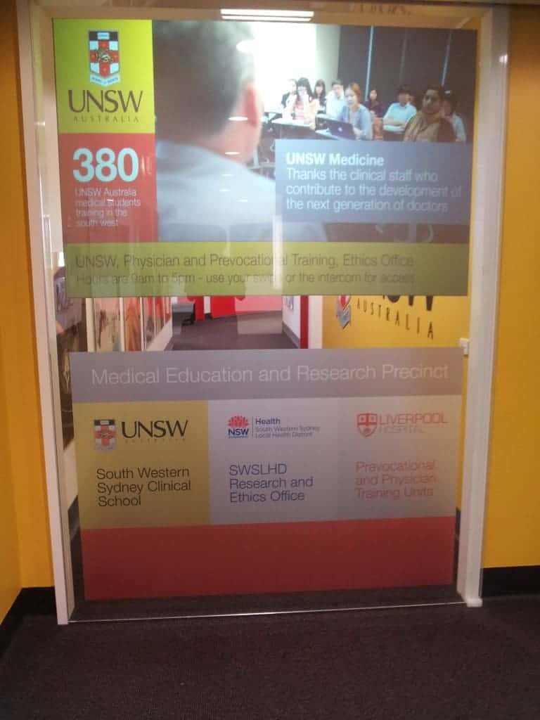 Advertise Me Projector Sliding Door Project
