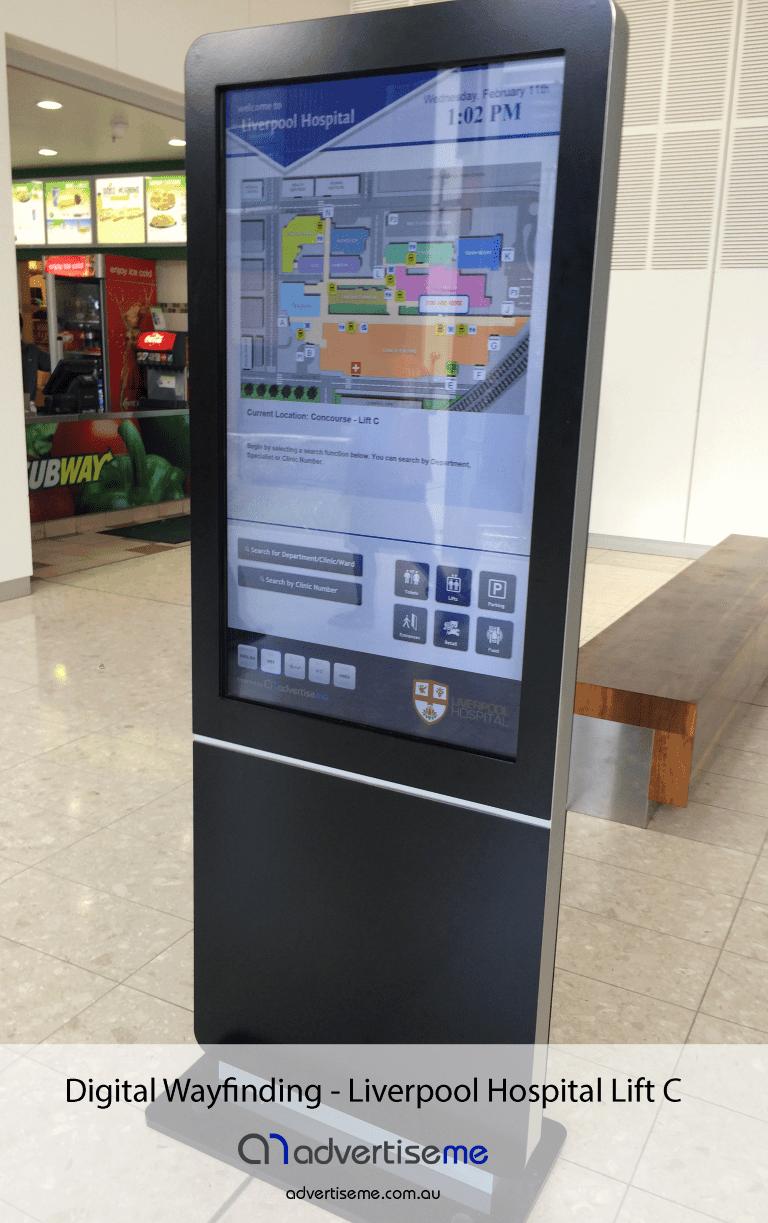 Digital Wayfinding Liverpool Hospital Lift C