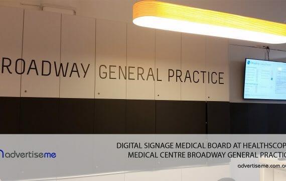 DIGITAL-SIGNAGE-MEDICAL-BOARD-AT-HEALTHSCOPE-MEDICAL-CENTRE-BROADWAY-GENERAL-PRACTICE-1