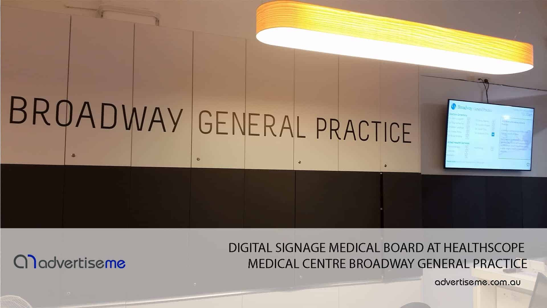 DIGITAL-SIGNAGE-MEDICAL-BOARD-AT-HEALTHSCOPE-MEDICAL-CENTRE-BROADWAY-GENERAL-PRACTICE-1