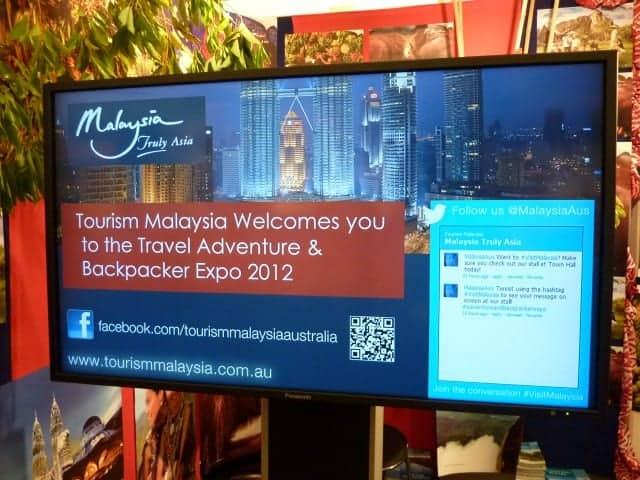 Tourism Malaysia Backpacker Expo 2012 digital signage social media