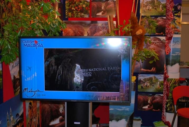 Tourism Malaysia Backpacker Expo 2012 digital signage stand