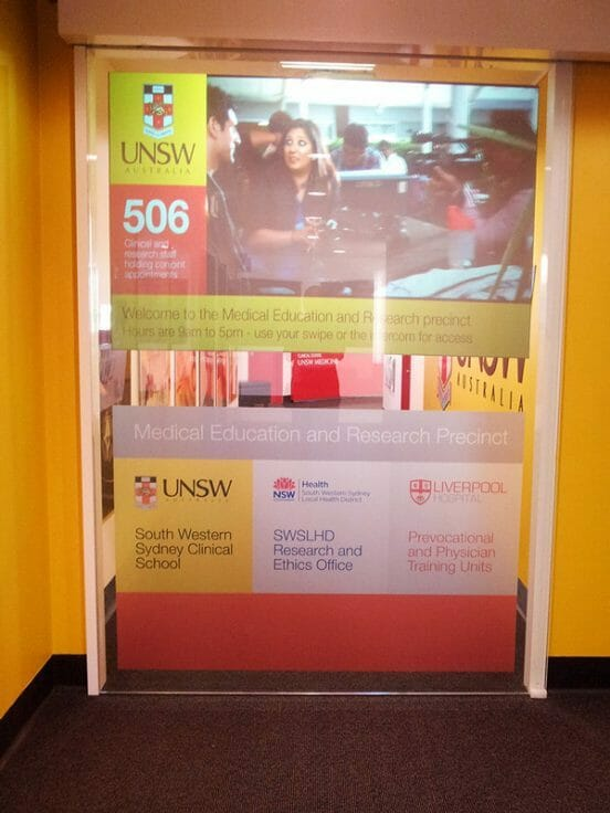 Digital Signage Projector UNSW University